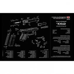 "TekMat 17-GLOCK-42-43 Pistol Mat For Glock 42/43 11""x17"" Bla"