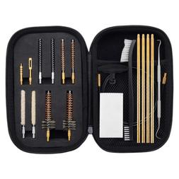 22 Caliber Rifle Gun Cleaning Kit with Bore Chamber Brushes