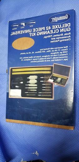 42-Piece Universal Cleaning Kit in Wooden Case Pistol Rifle