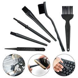 6 in 1 Plastic Small Portable Handle Nylon Anti Static Brush