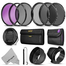 Professional 67MM Vivitar UV CPL FLD Lens Filters Kit and Al