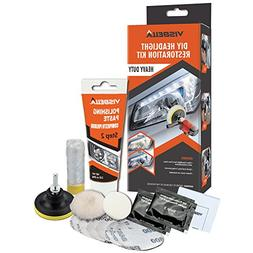 Visbella DIY Headlight Restoration Kit Renewal with Protecta
