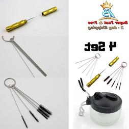 13pc Airbrush Cleaning Kit Cleaning Pot, Cleaning Needles, B