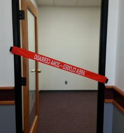 Area Closed Signs with Magnetic Ends- Bilingual