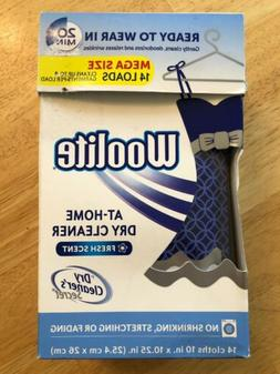 Woolite At Home Dry Cleaner Fresh Scent Mega Size 14 Cloths/