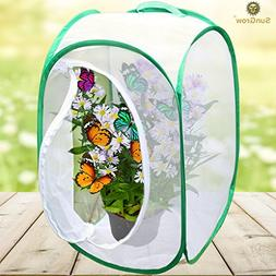 "Backyard Butterfly Cage Habitat --- 24"" Tall, Collapsible,"