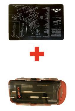 Beretta 92 Gun Cleaning Mat + 9mm Handgun Cleaning Kit SET