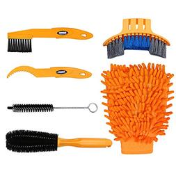 Oumers 6pcs Bike Bicycle Clean Brush Kit/ Cleaning Tools For
