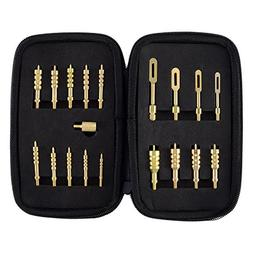BOOSTEADY Brass Jag Set Slotted Tip Gun Cleaning Jags for Fi