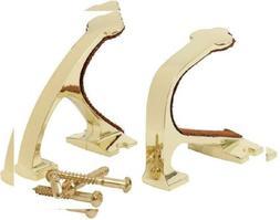 Allen Company Brass Shotgun & Rifle Wall Hanger Kit - Fits M