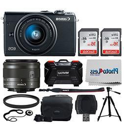 Canon EOS M100 Mirrorless Digital Camera  + EF-M 15-45mm f/3
