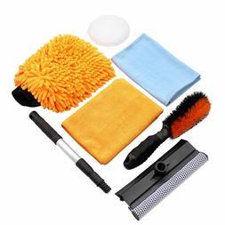 Car Cleaning Tool Kit by Scrub it Wheel Brush, microfiber wa