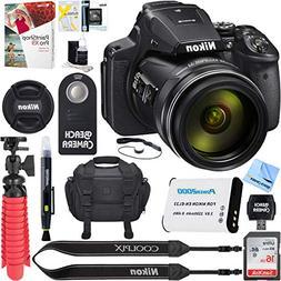 Nikon COOLPIX P900 16MP 83x Super Zoom Digital Camera + 64GB
