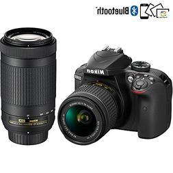 Nikon D3400 24.2MP DSLR Camera with AF-P 18-55 VR and 70-300