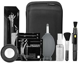 Movo Deluxe Essentials DSLR Camera Cleaning Kit with 10 APS-