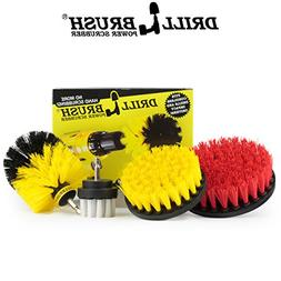 Drill brush Scrub Brush Drill Attachment Kit - Drill Powered
