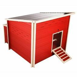New Age Pet ecoFLEX Jumbo Fontana Chicken Coop Barn - Red