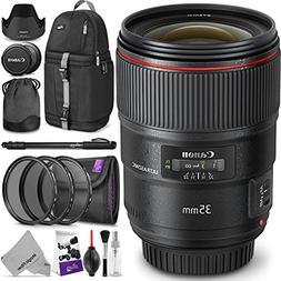 Canon EF 35mm f/1.4L II USM Lens w/Advanced Photo and Travel