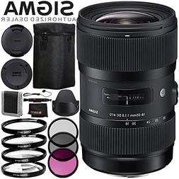 Sigma 18-35mm f/1.8 DC HSM Art Lens for Nikon F - 6PC Access