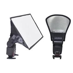 Bestshoot Flash Diffuser Reflector and Softbox Kit, Two-Side