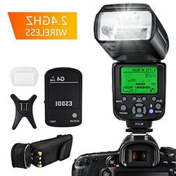 ESDDI Flash Speedlite for Canon, E-TTL 1/8000 HSS LCD Displa