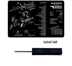 For Glock Armorers Gun Cleaning Bench Mat & Ghost Glock Tool