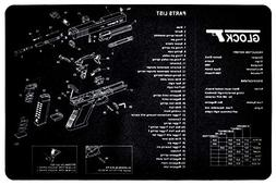 Sniper-Grunt Glock Handguns Cleaning Mat with Parts Diagram
