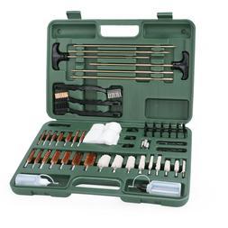163 PCS Gun Cleaning Kit w/ Pro Brass Jags, Patch Holders an