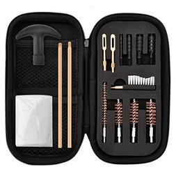 Axageid 15 Pcs Pistol Cleaning kit - .22.357.38,9mm.45 Calib