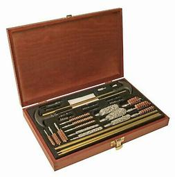 Outers Gun Cleaning Kit Universal 32 Piece Wood Box OUT 7008