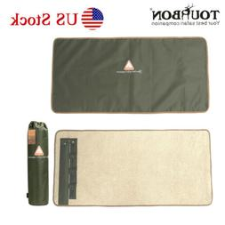 Gun Cleaning Mat Pad Rolled-up Rod Cleaner Kit Patch Pocket