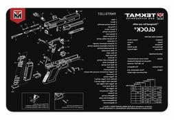 TekMat 11-Inch X 17-Inch Handgun Cleaning Mat with Glock Imp