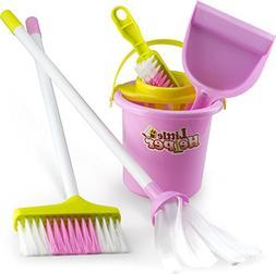 Housekeeping & Cleaning Playset – Mini Clean Up Broom, Mop