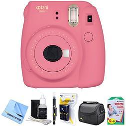 Fujifilm Instax Mini 9 Instant Camera Flamingo Pink  with 20