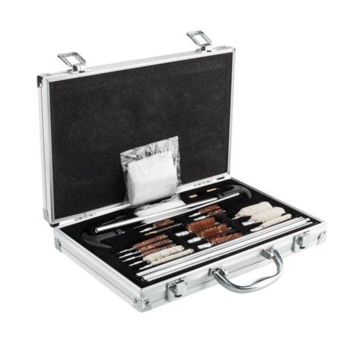 126pcs Gun Barrel Cleaning Kit Pro Rifle Cleaner Set