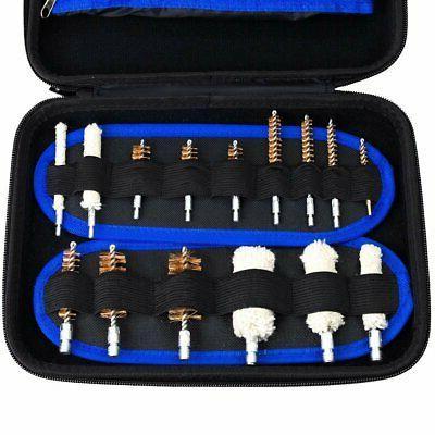 129pc gun cleaning kit universal rifle pistol