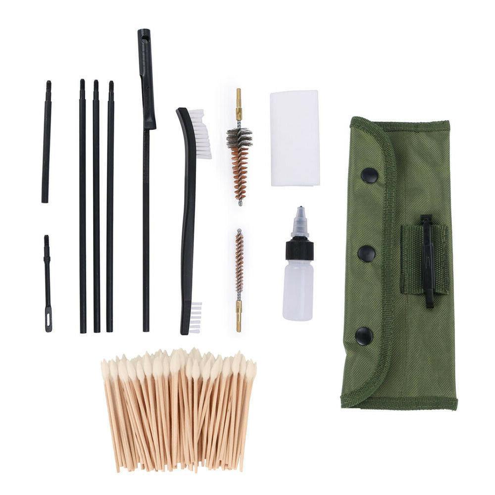 13 PCS Gun Cleaning Kit w/ Universal Brass Chamber Brushes,
