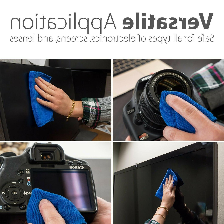 2x Cleaner Brush Microfiber Cloth Camera