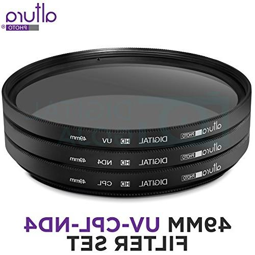 49MM Photo Professional Photography for Camera Lens 49MM Filter Thread + Pouch
