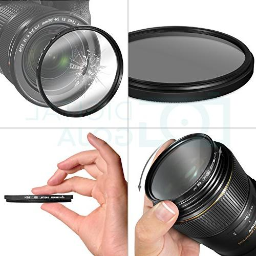 49MM Photography Filter Camera with Filter + Pouch