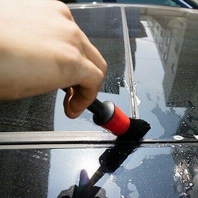 5Pcs Detailing Natural Boar Hair Car Cleaning Tools