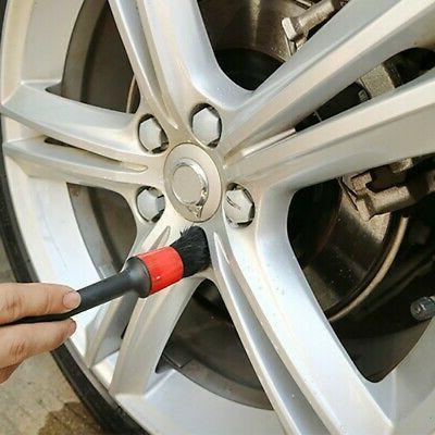 5Pcs Brush Natural Boar Auto Car Cleaning Wash Tools