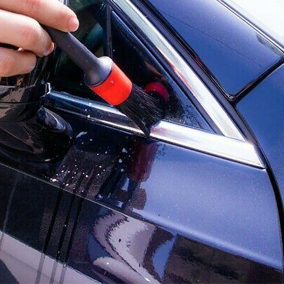 5Pcs Natural Car Cleaning Brushes Wash Tools