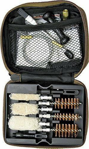 black portable rifle gun cleaning kit 556