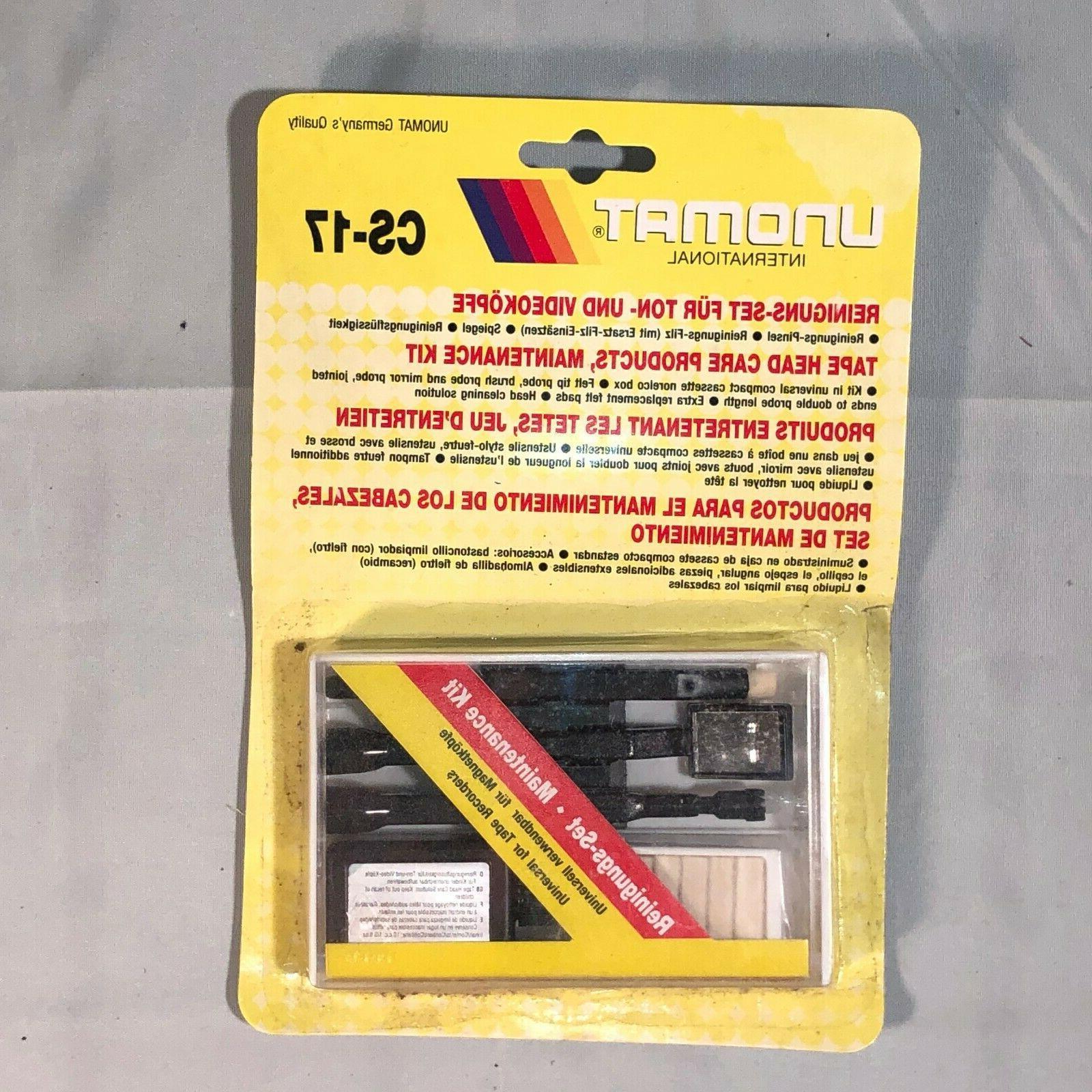cassette tape head cleaner audio maintenance kit