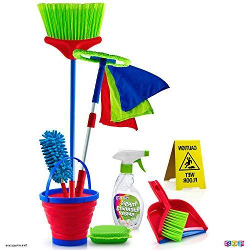 Play22 12 Piece Toy Cleaning Set Includes Mop, Duster, Bucket, - Toy Set - Original