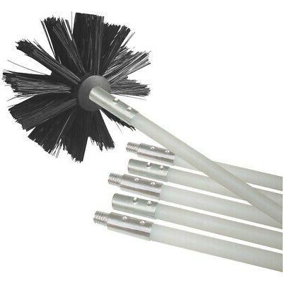 dvbrush12k 6 dryer duct cleaning kit 12ft