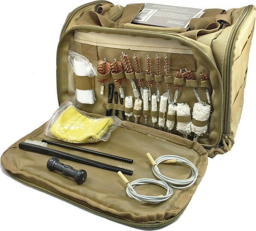gun care range bag tan shoulder strap