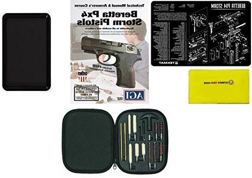 Ultimate Cleaning Tool Gun Beretta Storm Kit for .38 Tools + AGI Gun Spray + Magnetic Tray