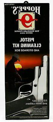 Hoppes Cleaning Kit Aluminum .38/.357 Caliber 9mm Gun